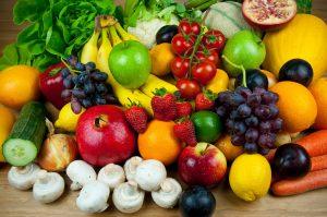 История овощей и фруктов.