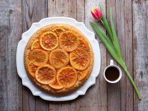 Рецепт апельсинового пирога.